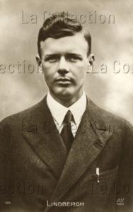 Portrait de l'aviateur Charles Lindbergh. Vers 1927. Photographie. Collection particulière.