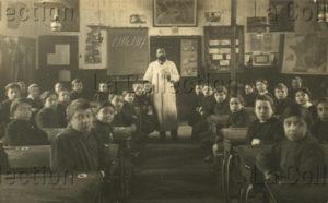 Première Guerre mondiale. Une classe de la guerre à Orléans. 1917. Photographie. Collection particulière.