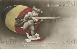 """Belgique. Première Guerre mondiale. """"Graine de poilu"""". 1914-1918. Photographie. Collection particulière."""