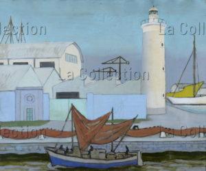 Ram (Ruggero Alfredo Michahelles). Port de Viareggio. 1950. Peinture. Collection particulière.