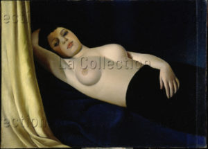 Ram (Ruggero Alfredo Michahelles). Le rideau jaune. 1927. Peinture. Florence. Palais Pitti. Galleria Moderna.