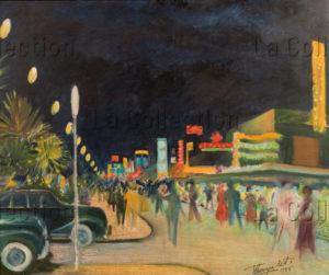 Thayaht (Ernesto Michahelles). Viareggio al neon (Viareggio sous les néons). 1956. Peinture. Collection particulière.