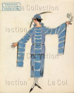 Thayaht (Ernesto Michahelles). Modèle pour Madeleine Vionnet. Vers 1919-1925. Dessin. Collection particulière.