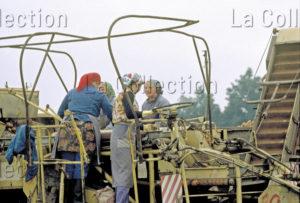 Delagarde, Jean Pierre. Allemagne (RDA). Récolte de pommes de terre par des agricultrices d'un LPG. 1980 1981. Photographie. Collection particulière.