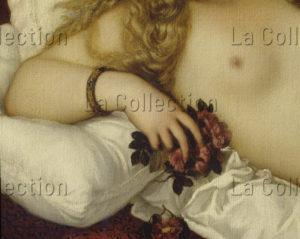 Titien. La Vénus D'Urbin. Détail : main et fleurs. 1538. Peinture. Florence. Musée Des Offices.