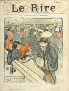 Steinlen, Théophile Alexandre. Au Moulin De La Galette. 1896. Imprimé. Collection Particulière.