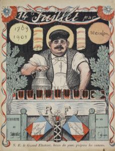 """Steinlen, Théophile Alexandre. """"L'Assiette Au Beurre"""". 14 Juillet. Imprimé. Collection Particulière."""