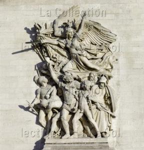France. Paris. Arc De Triomphe De L'Etoile. Côté Est. Rude, François. Le Départ Des Volontaires De 1792, Dit La Marseillaise. 1833 1836. Sculpture.