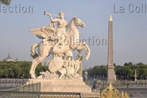 Paris. Place De La Concorde. Coysevox, Antoine. La Renommée Chevauchant Pégase. 1702. Sculpture.