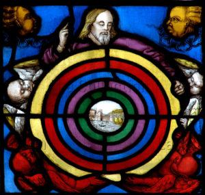 Renaissance. Auch. Cathédrale Sainte Marie. Desmoles, Arnaud. La Création de L'univers. Entre 1507 Et 1515. Vitrail.