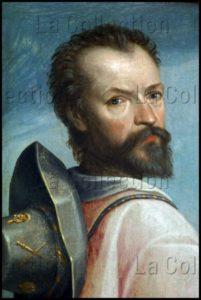 Hoey, Nicolas De. Triptyque De La Sainte Trinité. Panneau Gauche. Saint Jean le Majeur. 1592. Peinture. Vitteaux. Eglise Saint Germain.