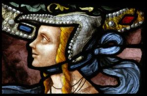 Renaissance. Auch. Cathédrale Ste Marie. Desmoles, Arnaud. La Sibylle De Tibur. Détail : Visage. Entre 1507 Et 1515. Vitrail.