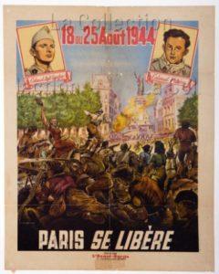 """France. Seconde Guerre Mondiale. """"18 Au 25 Août 1944, Paris Se Libère"""". 1944. Imprimé. Collection Particulière."""