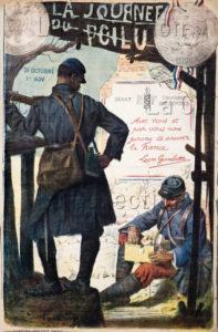 """France. Première Guerre Mondiale. Lucien, Jonas. """"La Journée Du Poilu, 31 Oct, 1er Nov 1915"""". 1915. Collection Particulière."""