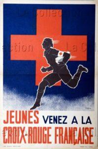 """France. Seconde Guerre Mondiale. """"Jeunes, Venez à La Croix Rouge Française!"""". 1942. Colection Particulière."""
