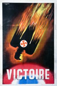 """France. Seconde Guerre mondiale. """"Victoire"""". 1945. Imprimé. Collection particulière."""
