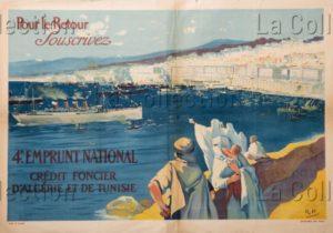 """France. Histoire. """"Crédit Foncier D'Algérie Et De Tunisie"""". 1918. Collection Particulière."""
