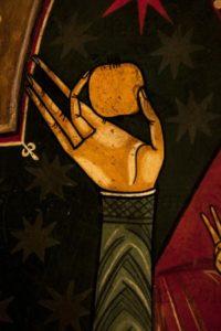 Espagne. Catalogne. Lluçà. Eglise Santa Maria. Autel. Maître de Lluçà. 2e Quart XIIIe siècle. Peinture.
