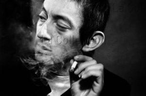 Herschtritt, Léon. Portrait de Serge Gainsbourg. Vers 1969. Photographie. Collection Particulière.