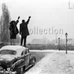 """Herschtritt, Léon. Berlin. """"Sur Le Toit"""". Bergstrasse. 1961. Photographie. Collection Particulière."""