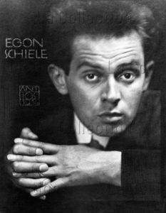 Josef Anton Trcka. Portrait de l'artiste autrichien Egon Schiele. 1914. Photographie. Collection particulière.