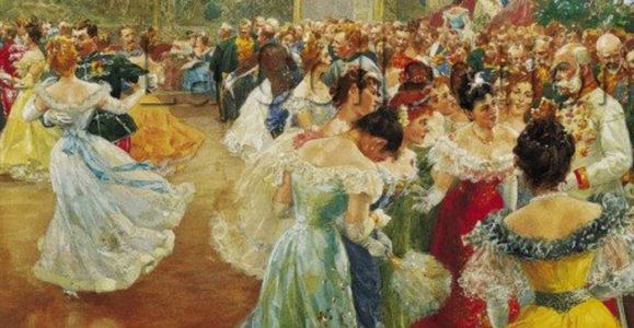 Wilhelm Gause. Le Bal de la cour à Vienne. Vers 1906. Dessin. Vienne, Wien Museum Karlsplatz.