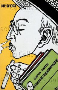 Moriz Jung. Le sport (Fumeur de cigare). 1913. Gravure. Collection particulière.