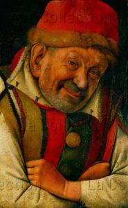 Jean Fouquet. Gonella, nain de la cour des ducs de Ferrare. Vers 1450. Peinture. Vienne, Kunsthistorisches Museum.