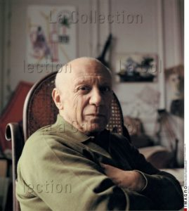 "Franz Hubmann. Picasso à ""La Californie"". 1957. Photographie. Collection particulière."
