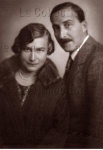 Franz Xaver Setzer. Portrait de Stefan Zweig et de sa femme, Friderike Maria Burger. 1925. Photographie. Vienne, Atelier Setzer Tschiedel.