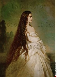Franz Xaver Winterhalter. L'impératrice Elisabeth d'Autriche, les cheveux détachés. 1864. Peinture. Vienne, Kunsthistorisches Museum.