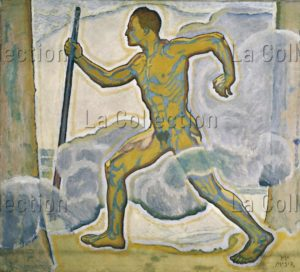 "Kolo Moser. Der Wanderer (""Le voyageur"", Wotan). Vers 1916. Peinture. Vienne, Wien Museum Karlsplatz."
