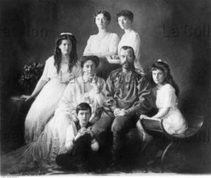 Russie. Empire Russe. Le tsar Nicolas II et sa famille. Vers 1913. Photographie. Collection particulière.