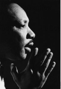 Portrait de Martin Luther King. Vers 1965. Photographie. Collection particulière.