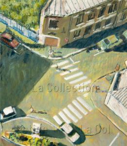 François Jousselin. Carrefour. 1980-1989. Peinture. Collection particulière.