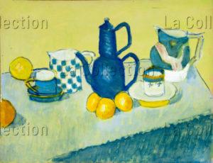 François Jousselin. Nature morte. Vers 1971-1979. Peinture. Collection particulière.
