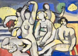 François Jousselin. Les baigneuses. Vers 1955. Peinture. Collection particulière.