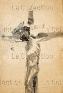 François Jousselin. Le Christ. 1950-1959. Dessin. Collection particulière.