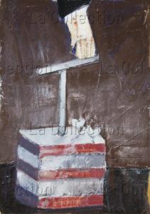 François Jousselin. L'attentat. 1966. Peinture. Collection particulière.