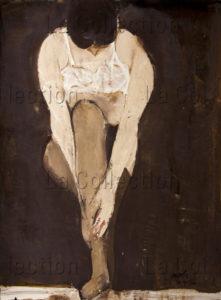 François Jousselin. Femme s'habillant. 1966. Peinture. Collection particulière.