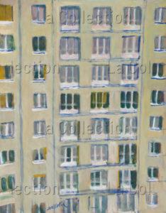 François Jousselin. L'immeuble de Vanves. 1980-1989. Collection particulière.