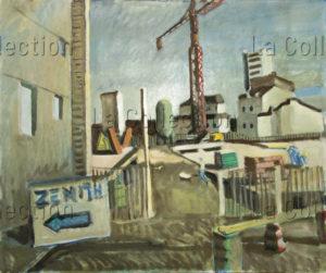 François Jousselin. Zénith. 1970-1979. Peinture. Collection particulière.