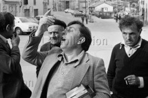 Kervella, Gilles. Italie. Piémont. Fête du vin. 1981. Photographie. Collection Particulière.