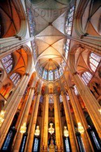 Art Gothique. Le Mans. Cathédrale St Julien. Choeur et voûte. Vue d'ensemble. XIIIe XVe siècle. Architecture.