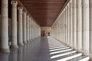 Grèce. Athènes. Agora Grecque. Portique (stoa) D'Attale. Intérieur. Vue Générale. Vers 150 Avt JC. Architecture.