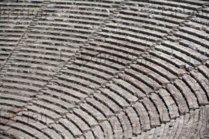 Grèce. Epidaure. Théâtre. Détail : Le Koilon (theatron Ou Cavea) Avec Les Gradins. Fin IVe Siècle Avt JC. Architecture.