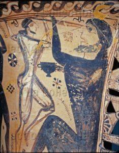 Art Grec. Epoque Archaïque. Amphore. Ulysse Et Ses Compagnons Aveuglant Polyphème. Détail. Vers 650 Avt JC. Céramique. Eleusis, Musée.