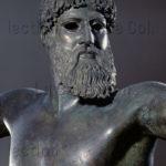 Art grec. Epoque classique. Zeus, Poséidon ou Dieu de l'Artémision. Vers 460 avt JC. Sculpture. Athènes, Musée national archéologique.
