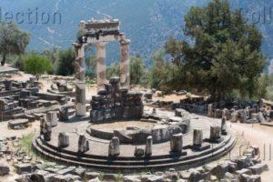 Grèce. Delphes. La Tholos. IVe Siècle Avt JC. Architecture.