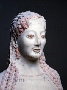 Art Grec. Coré Au Péplos, Vers 530 Av. JC. Sculpture. Athènes, Musée De L'Acropole.